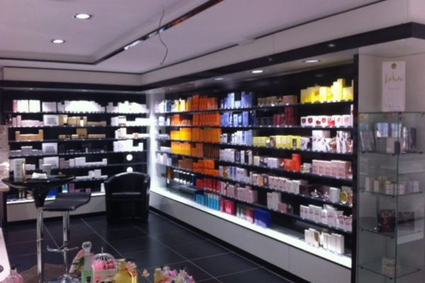 Agencement d'une parfumerie